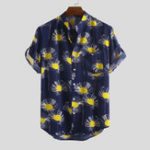 New Mens Fashion Practical Pocket Floral Printed Shirts