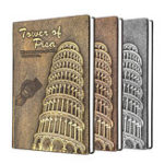 New Leaning Tower of Pisa Diary Book Vintage Leather Fashion Notebook Lined Paper 128 Sheets 256 Pages