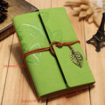 New Creative Notebook Custom Travel Diary Loose Leaf Vintage Leaf Notepad Leather Notebook Note Book for Business Gift Memo Pad