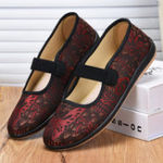 New Women Retro Pattern Comfortable Flat Loafers