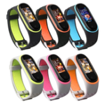 New Bakeey Replacement Anti-lost Design Colorful Silicone Watch Band for Xiaomi Mi Band 4&3 Smart Watch