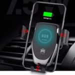 New 10W Qi Wireless Charger Gravity Air Vent Dashboard Car Phone Holder Car Mount For 4.0-6.5 Inch Smart Phone