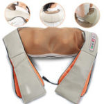 New U Shape Heating Pillow Kneading Massager for Neck Back