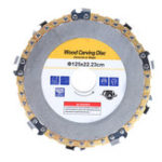 New Drillpro Gold 5 Inch Grinder Chain Disc 9 Tooth Wood Carving Disc For 125 Angle Grinder