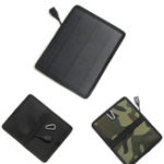 New Black/Camouflage 5.3W Mini Monocrystalline Silicon Solar Panel Charging Board Pack for Outdoor Equipment