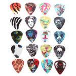 New 5pcs Mix-color Celluloid Acoustic Electric Guitar Picks
