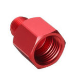 New Adapter Converts CO2 Tank to Standard 5/8-18 Male Female & W21.8 Fitting Fitting Red