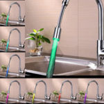 New 360 Rotation LED Faucet Tap Heads Aerators Water Powered 7 Colors Quick/Slow Flashing