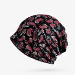 New Women Cotton Stretch Printed Beanie Cap