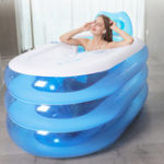 New Portable Adult Kids Spa Inflatable Bathtub with Air Pump