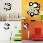 New Creative DIY 3D Mirror Wall Acrylic Clock Sticker Unique Big Number Modern Decorations