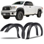 New 4PCS Front+Rear Wheel Fender Flares with Pocket Rivet Black For Toyota Tundra 2007-2013