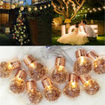 New 10 LED Bulbs String Lights Fairy Lamp Patio Party Yard Garden Wedding Home Decorative Night Light