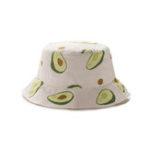 New Unisex Summer Avocado Fisherman Hat Outdoor Travel Sun Hat
