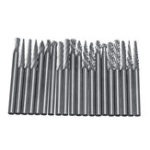 New 20Pcs 3x3mm Tungsten Steel Solid Carbide Burrs Rotary Rasp File Grinding Tools Kit