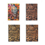 New Handmade Vintage 3D Embossed Owl Travel Diary Notebook Journal Leather Notepad