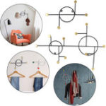 New Coat Hangers Robe Rack Hat Clothes Wall Hook Coat Rack Mount For Home