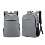 New 18L Men USB Anti-theft Backpack Rucksack 16inch Laptop Shoulder Bag With Headphone Hole Outdoor Travel