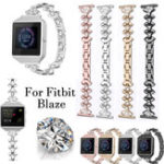 New Bakeey Replacement Stainless steel Watch Band Small Fan-shaped Crystal with Watch Frame for Fitbit Blaze Smart Watch