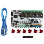 New MKS RUMBA Motherboard + 6x TMC2208 Driver Kit for 3D Printer