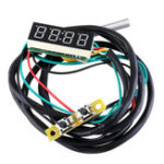 New 0.36 Inch 3-in-1 Time + Temperature + Voltage Display DC7-30V Voltmeter Electronic Watch Clock Digital Tube