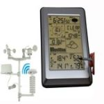 New Professional Wireless Weather Station Touch Panel Therm Humidity Rain Wind Pressure PC Data Solar Power Weather Center