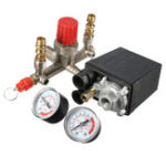 New Regulator Air Compressor Pump Pressure Control Switch Valve Gauge Heaty Duty