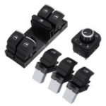New 5PCS Window Master Panel Mirror Switch Control For VW Passat Golf MK5 6 Jetta Tiguan Touran