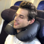 New Inflatable U Shape Neck Cushion Travel Car Headrest Pillow Office Airplane Driving Nap Support