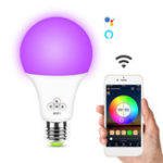 New 6.5W E27 RGB+White WIFI Smart LED Light Bulb Remote Voice Control Lamp Work With Alexa Google Home AC100-240V