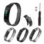 New Bakeey Full Steel Watch Band Replacement Watch Strap for Huawei Band 3/3 pro Smart Watch