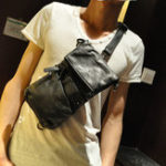 New Fashion Faux Leather Chest Bag Crossbody Bag For Men