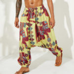 New Mens Ethnic Style Loose Casual Baggy Hanging Pants