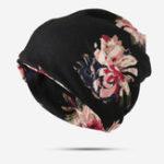 New Women Ethnic Style Printed Cap Adjustable Beanie Hat