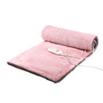 New 220V 25W Electric Heated Throw Over Under Blanket