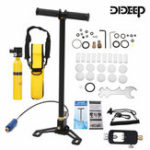 New DIDEEP 0.5L Mini Scuba Tank Diving Oxygen Reserve Air Hand Pump Dive Equipment