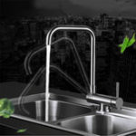 New Stainless Steel Vegetable Basin Faucet Inside Window Faucet Kitchen Sink Turn Down Side