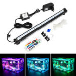 New NovSight LED RGB Aquarium Light 38cm 16 Color RF Remote Control Waterproof Fish Tank Underwater Lamp