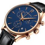 New CRRJU 2272 Fashion Leather Strap Men Quartz Watch