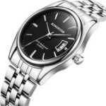 New KINGNUOS 1853 Stainless Steel Band Business Men Wrist Watch