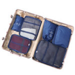New 8PCS Folding Waterproof Travel Bag Clothes Pouch Luggage Bag Organizer Travel Bag