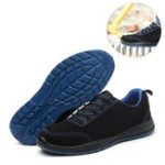 New Men's Safety Shoes Work Shoes Steel Toe Wearable Anti-Smashing Non-Slip Running Sports Sneakers