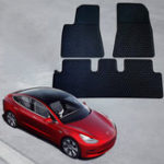 New For Tesla Model 3 Car Rubber Front Rear Floor Mat Carpet Set Waterproof Pad