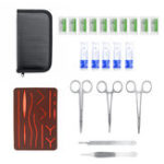 New 25Pcs Portable Complete Suture Training Instrument Tools Set with Skin Model for Medical Students
