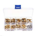New Suleve™ M4BH2 136Pcs M4 Brass Hex Column Standoff Support Spacer Pillar For PCB Board Screw Nut Assortment Set