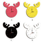 New Wapiti Head Creative Wall Clock Living Room Home Cartoon Children's Clock