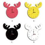 New Wapiti Head Creative Wall Clock Living Room Home Cartoon Children's Clock