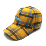 New Unisex Men Letter Embroidery Plaid Baseball Cap
