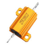 New 10pcs RX24 25W 200R 200RJ Metal Aluminum Case High Power Resistor Golden Metal Shell Case Heatsink Resistance Resistor