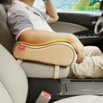 New Universal Breathable Memory Foam Car Seat Cushion Armrest Center Console Rest Pillow Pad Supports